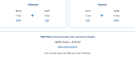 Using Chase Ultimate Rewards and Capital One Venture transfer partners to book American Airlines tickets.