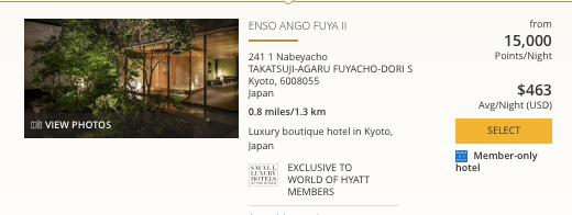 Hyatt in Japan, World of Hyatt points in Kyoto