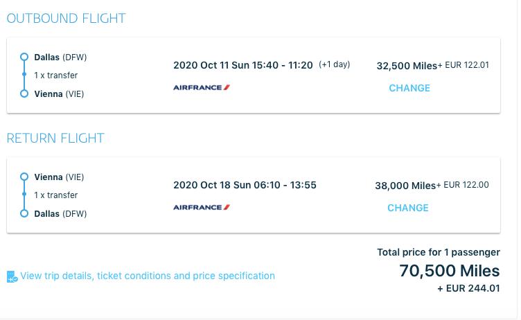redeem virgin atlantic for air france flight