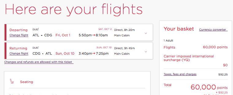 can I convert chase ultimate rewards points to delta