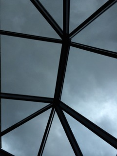 The inside of a roof lantern