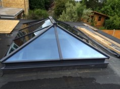 A contemporary roof lantern in anthracite grey