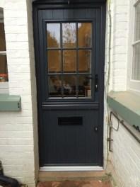 Stable door in anthracite grey