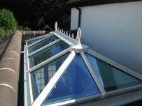 A white PVCu roof lantern