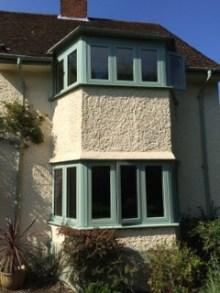 Residence 9 green window frames
