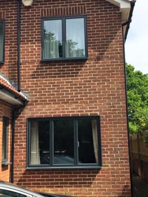 Aluminium windows anthracite grey