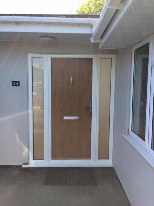 Flint Solidor Composite Doors in Irish Oak