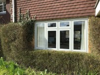 Flush sash PVCu windows