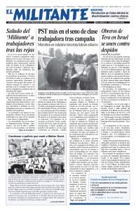 thumbnail of El Militante Vol. 82/No.1