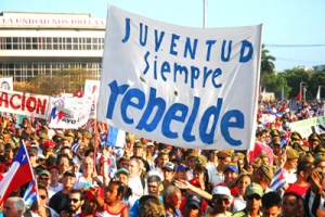 May Day march in Havana, 2017