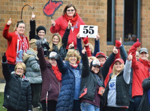 Woodsdale Elementary teachers, Wheeling, West Virginia, celebrate strike victory March 6.