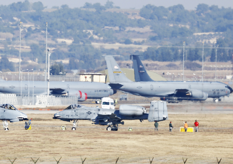 Turkish government has let U.S. forces use Incirlik base in Adana, Turkey, above, for decades. But disputes between U.S. and Turkish governments have heated up in wake of Syrian civil war.