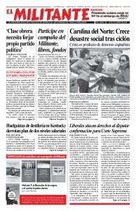 thumbnail of el Militante Vol. 82/No.38