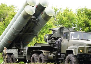S-300 surface-to-air missiles, like those the Russian rulers just delivered to Syrian regime.