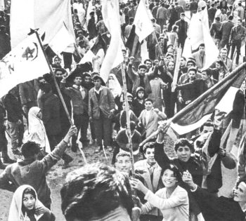 Supporters of National Liberation Front in Algeria rally in early 1960.