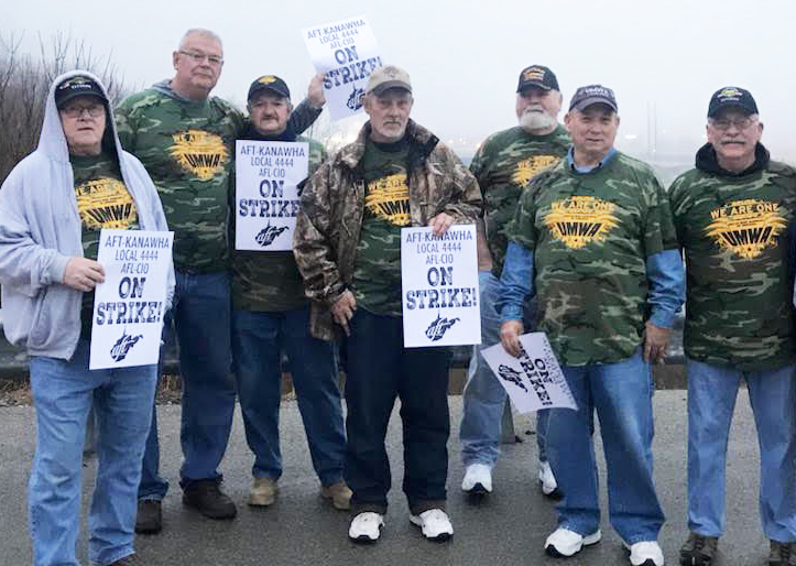 Retired mine workers bring solidarity to 9-day strike by teachers and school workers, Kanawha County, West Virginia, Feb. 22, 2018. Strike took on aspects of a social movement, impacted by the fighting traditions of miners union in that state going back decades. It set an example for the kind of labor movement workers will need to build to respond to the bosses' attacks.