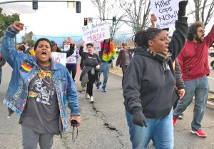Students in Sacramento, California, walk out to protest March 2 decision by District Attorney Anne-Marie Schubert to not bring charges against cops who killed Stephon Clark.