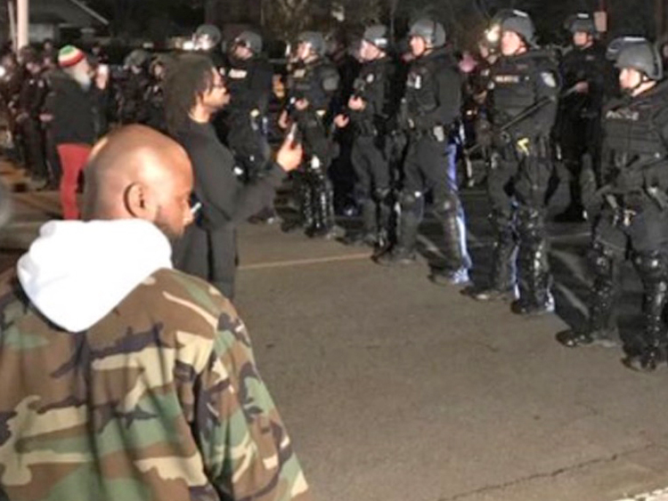 Protest after Sacramento cops who killed Stephon Clark let off