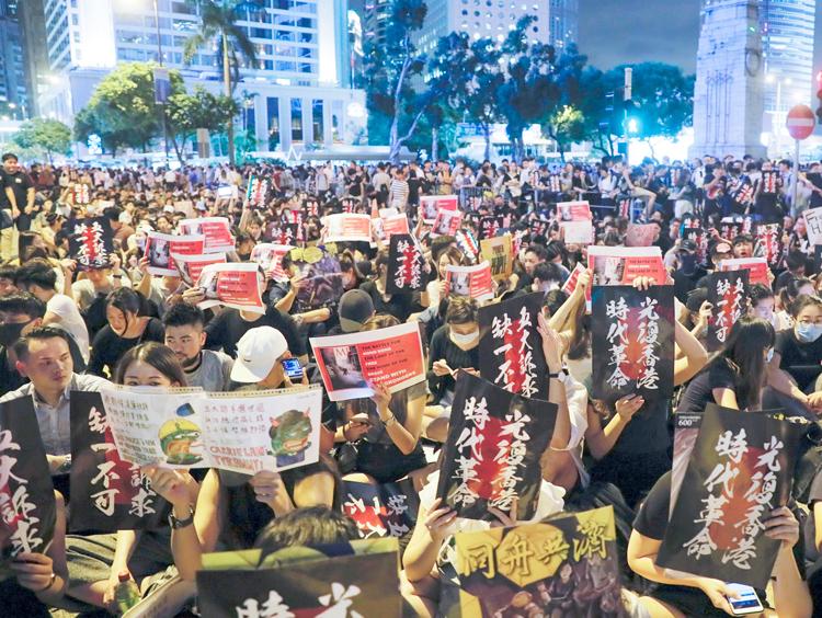Hong Kong protests continue to demand rights