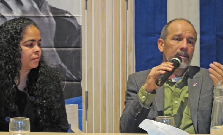 Cuba's ambassador to New Zealand, Edgardo Valdés speaks in Auckland July 25.