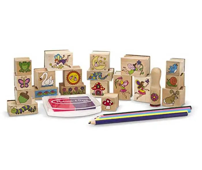keep your kids busy with an open ended toy like this fairy stamp set.