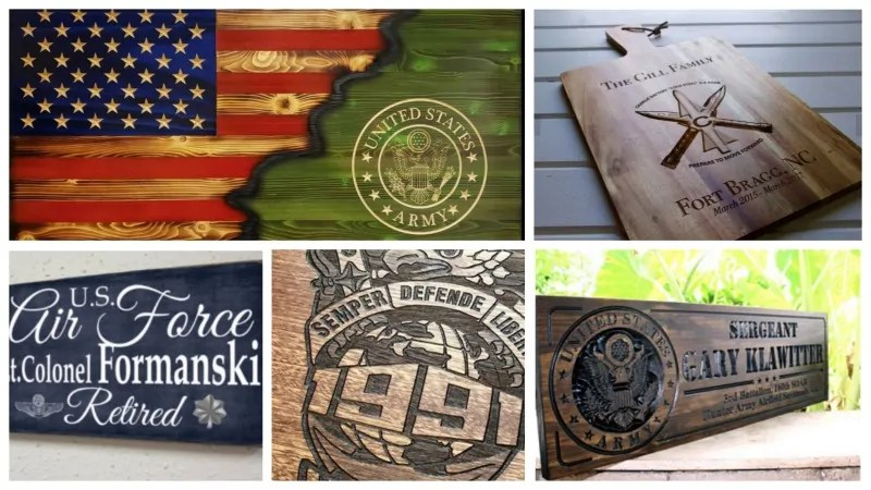 Custom wooden gifts for military
