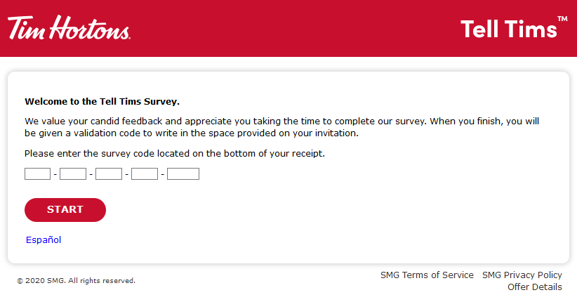 Take Tim Hortons Survey - Get Free Fast Food - Tim Hortons Survey