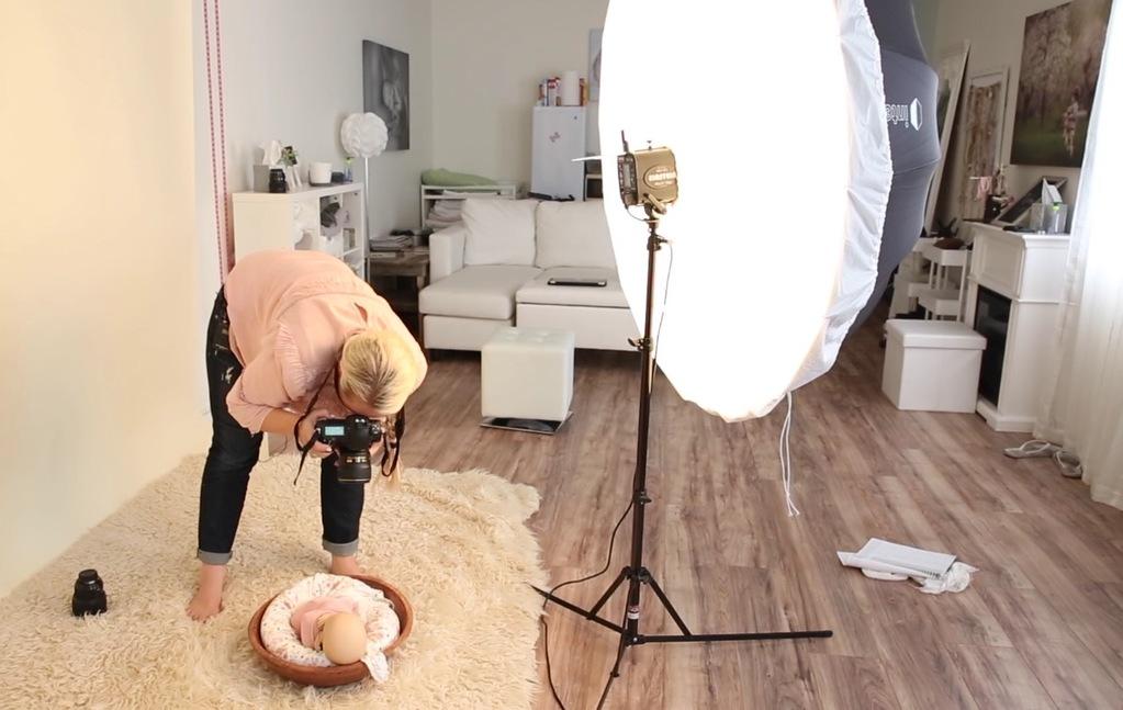 studio lighting for newborns
