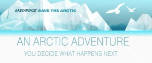 Greenpeace save the artic poster