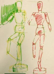 Art model sketch