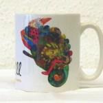 George the chameleon mug