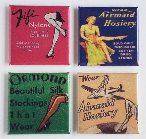 pubblicità vintage con tipi di calze collant