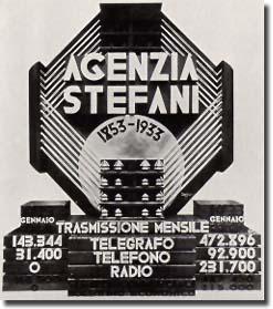 Il simbolo dell'agenzia Stefani