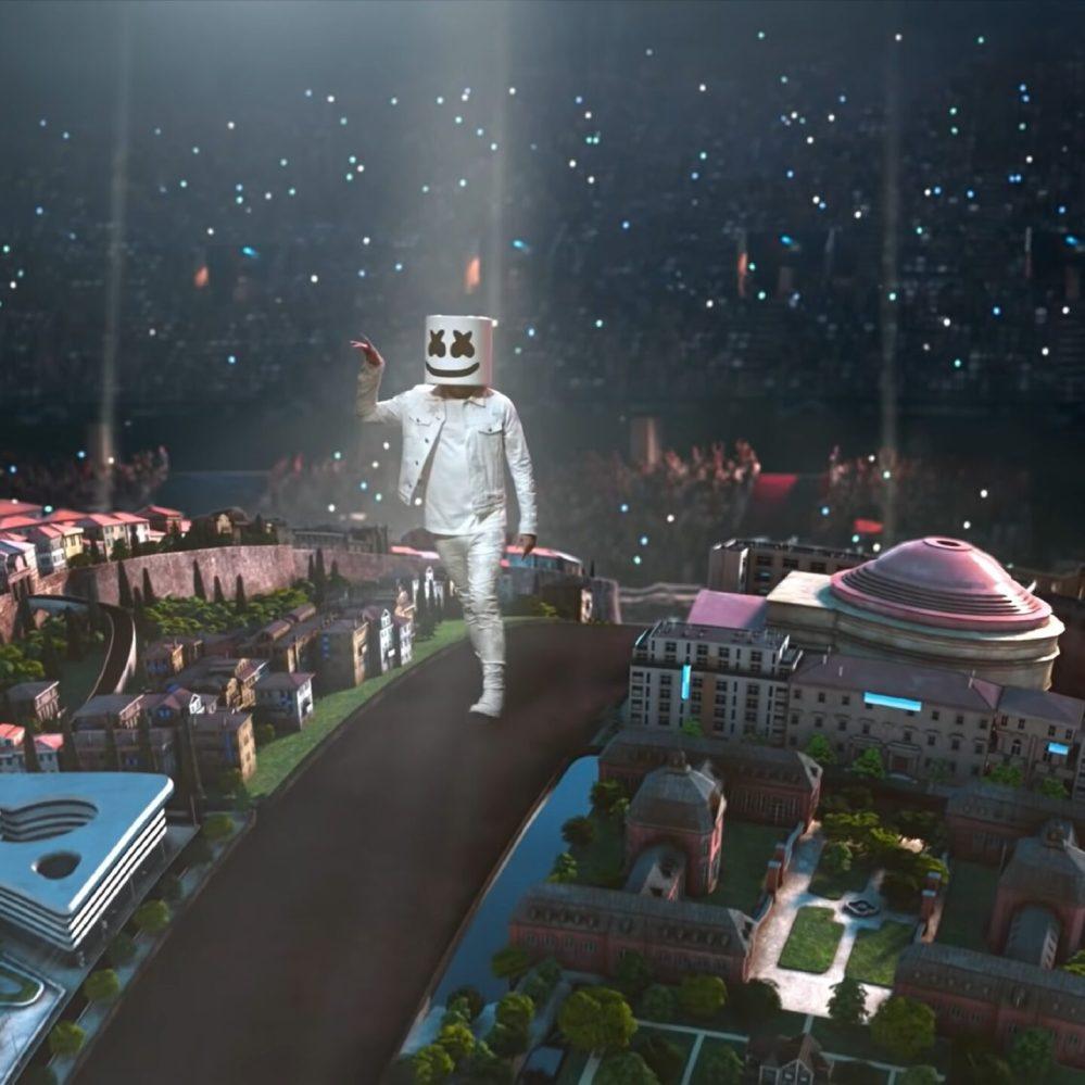 Tifo reale e spettacolo virtuale: la finale Champions di Dj Marshmello