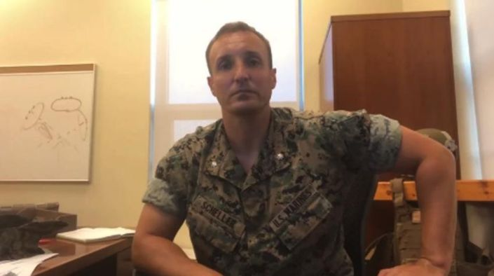 Marine officer who blasted commanders for Afghanistan chaos in viral video is detained in military jail ahead of trial