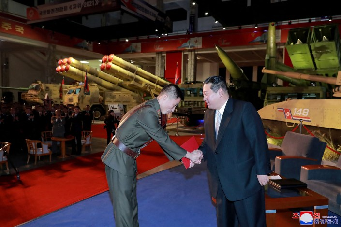 Kim Jong Un displays missile arsenal, claims US causing instability