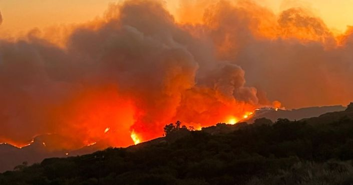 Exclusive Photos: Fast-Spreading Fire Rages Near Historic Reagan Ranch