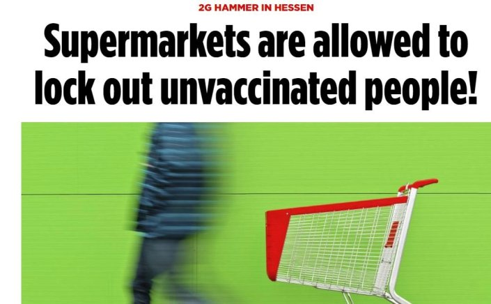 VAX OR STARVE: German State Allows Grocery Stores to Ban UnvaccinatedJim Hoft
