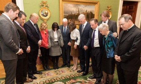 Republicans paid off by the NRA pretend to pray for the victims of the Vegas shooting.