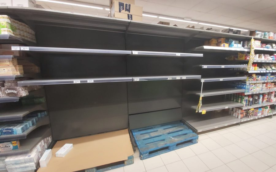 Spain empty shelves coronavirus