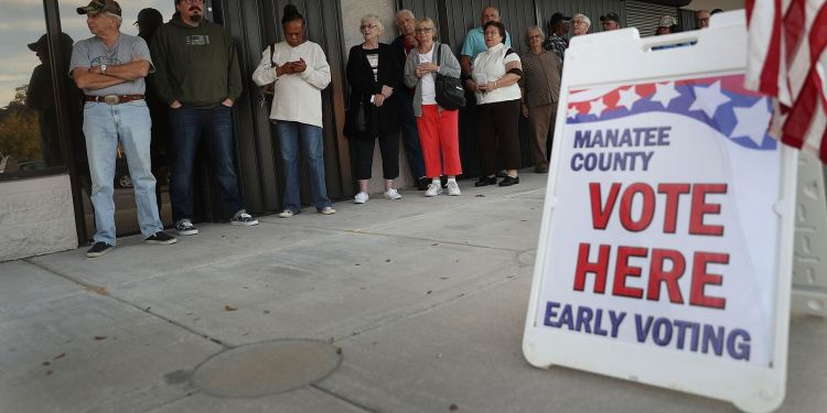 Which states allow early voting and how is it done?