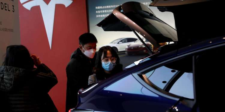Tesla rules the Chinese electric vehicle market