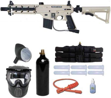 Tippmann US Army Project Salvo Paintball Gun Player Package