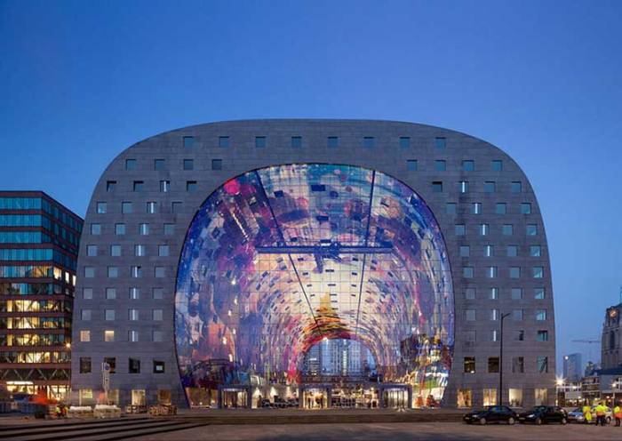 A Spectacular 36,000 Sq Ft Mural Decorates This Market Hall In Rotterdam