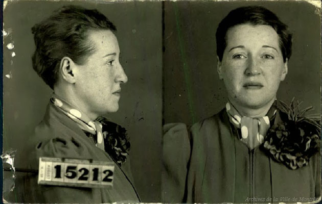 Mugshots of Prostitutes of Montreal from the 1940's