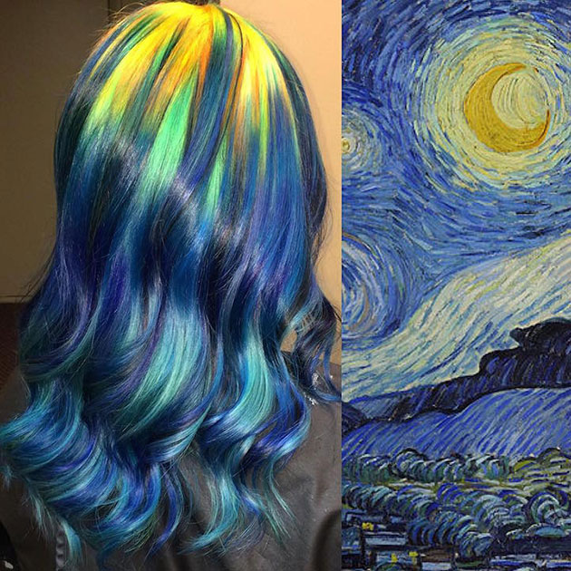 Fine Art Paintings Inspires Hair Stylist To Come Up With Masterpieces Using Hair Dye!