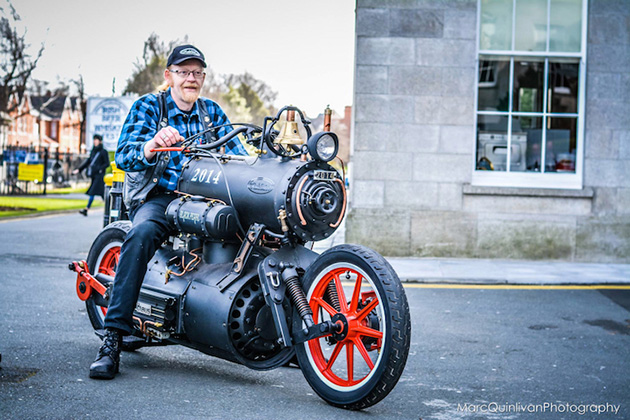 Awesome Steam Engine Powered Motorcycle