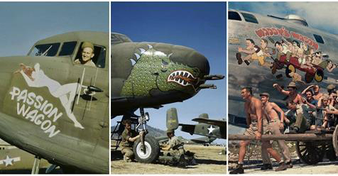 22 Color Vintage Photographs Captured Amazing Nose Art Painted on Military Aircrafts During World War II