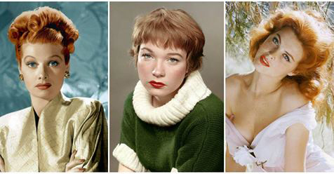 Beautiful Vintage Portraits of 20 Iconic Red-Haired Celebrities