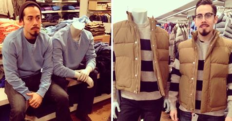 Man Hilariously Dresses Up Like Mannequins While Wife Shops
